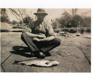 andrew lowry grandfathersbrowntrout greatlake 1940s
